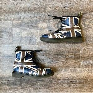 Dr. Martins British flag design Delaney boots